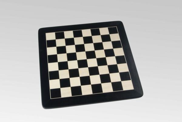 Schachbrett in Schwarz/Ahorn, 1 Zierader und Rahmen, Feldgröße 45mm