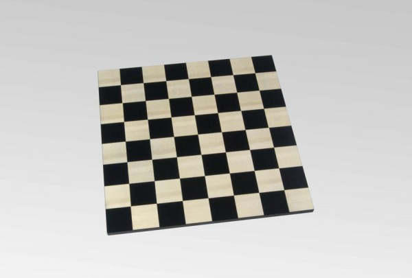 Schachbrett in Schwarz/Ahorn, rahmenlos, Feldgröße 45mm