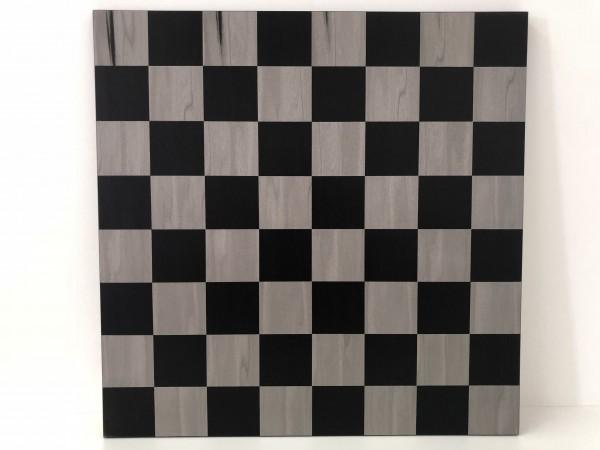 Schachbrett schwarz/grau 55mm Feld
