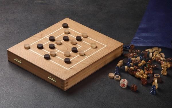 Reisespielesammlung Kirsche Schach, Dame, Mühle, Backgammon, M.ä.d.n. , magnetisch