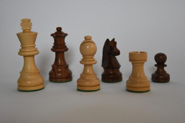 Schachfiguren Staunton, ungebleit, KH: 75mm, braun/weiß