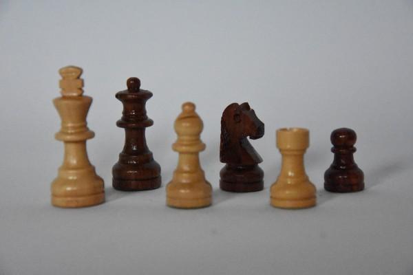 Schachfiguren Staunton, magnetisch, KH: 45mm, braun/weiß
