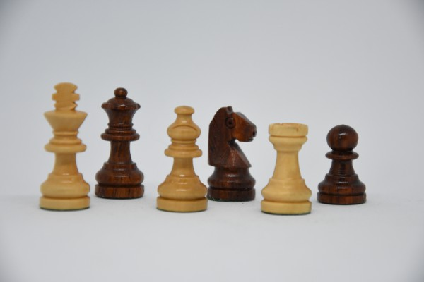 Schachfiguren Staunton, magnetisch, KH: 35mm, braun/weiß