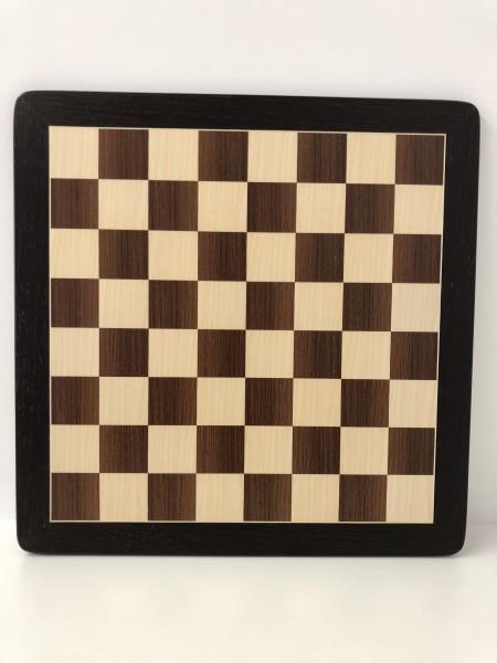 Schachbrett in Wenge/Ahorn, 1 Zierader und Rahmen, Feldgröße 45mm