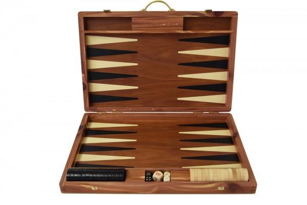 Backgammonkoffer in Zwetschge, mittel