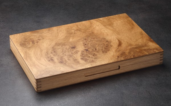 Backgammonkoffer in Roseneiche, mittel