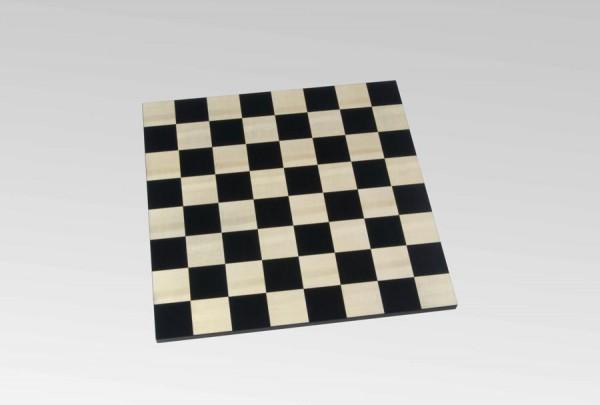 Schachbrett in Schwarz/Ahorn, rahmenlos, Feldgröße 50mm