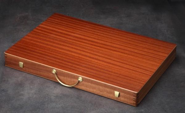 Backgammonkoffer in Mahagoni, groß