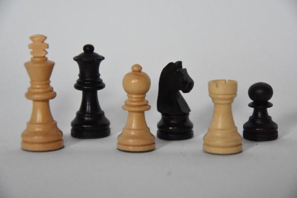 Schachfiguren Staunton, magnetisch, KH: 45mm, schwarz/weiß
