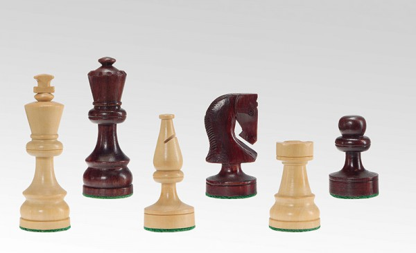 Schachfiguren in Palisander/Buchsbaum, KH 85mm, gebleit