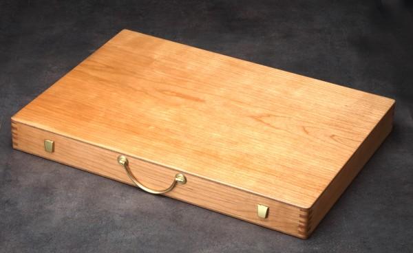 Backgammonkoffer in Kirsche, groß