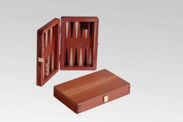 Reisebackgammon in Zeder, magnetisch