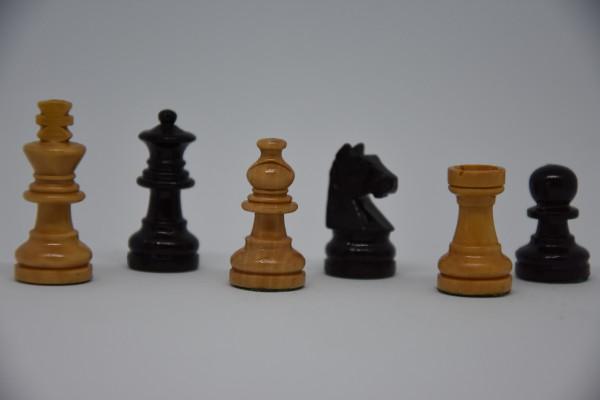 Schachfiguren Staunton, magnetisch, KH: 35mm, schwarz/weiß