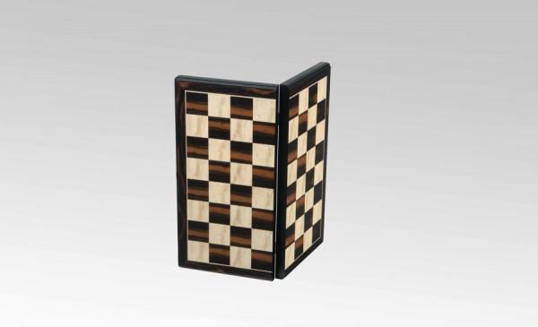 Schachkassette Makassar Ebenholz/Vogelaugenahorn, Feldgröße 45mm