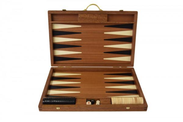 Backgammonkoffer in Mahagoni, mittel